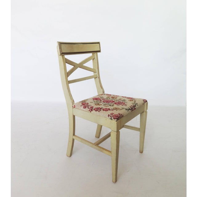 Wood French Regency Writing Desk and Chair For Sale - Image 7 of 8