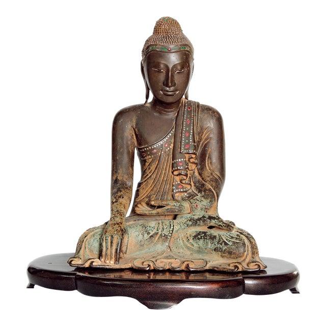 19th Century Patinated and Gilt Bronze Burmese Buddha - Image 1 of 11