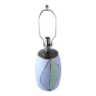 1970s Vintage Modernist Pottery Lamp For Sale