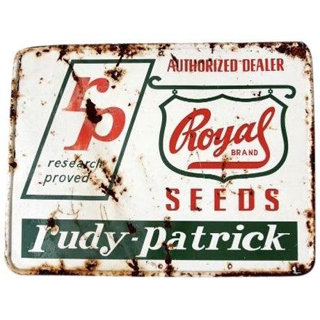 "Vintage ""RP Seeds"" Metal Sign - Image 1 of 6"