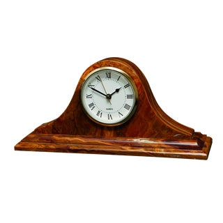 Brown Onyx Mantle Clock
