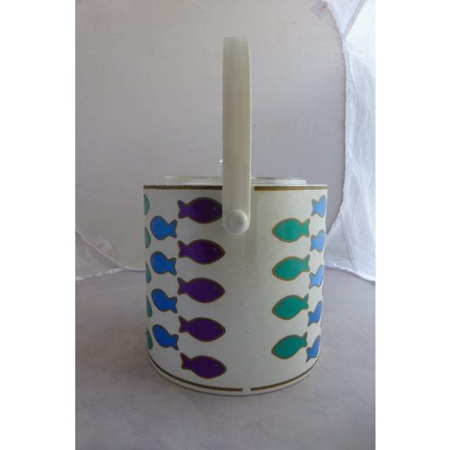Mid-Century Ice Bucket With Colorful Fish - Image 4 of 8
