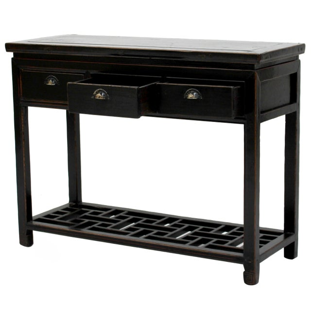 Antique Sarreid LTD Ming Style Wood Console Table - Image 1 of 3