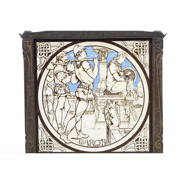 19th C. Minton Ceramic Tiles in a Bronze Jardiniere - Image 9 of 9