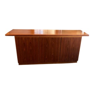 Mid-Century Modern Stained Oak Console For Sale