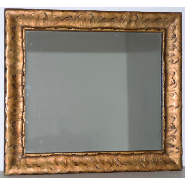 Art Nouveau Carved & Gilded Frame with Mirror C. 1890 to 1910 For Sale - Image 4 of 8