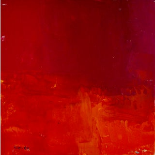 """Fire"" Contemporary Abstract Red Monochromatic Acrylic Painting by Trevor Mikula For Sale"