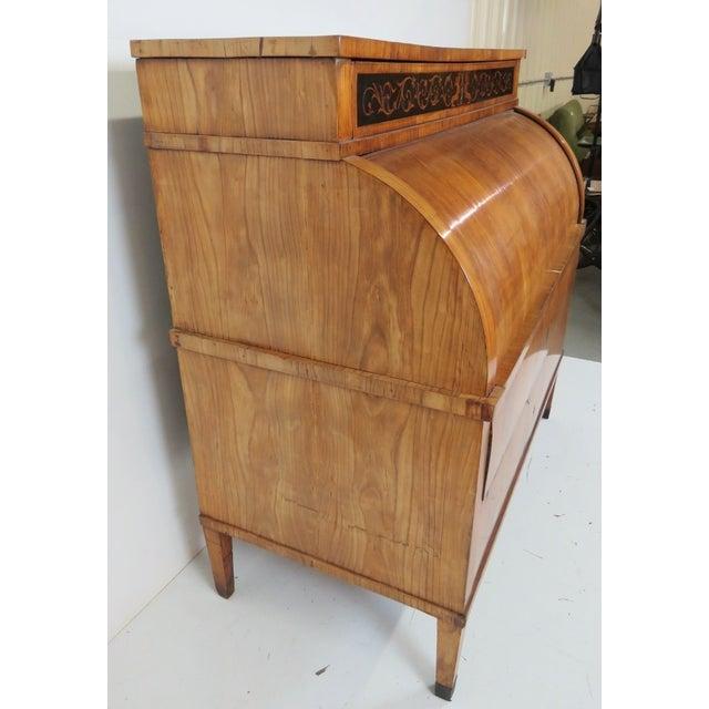 19th C. Biedermeier Cylinder Desk - Image 7 of 10