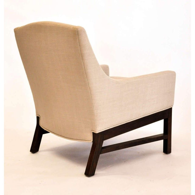 The pair of lounge chairs attributed to Edward Wormley for Dunbar. Single ownership, interior decorator's period estate...