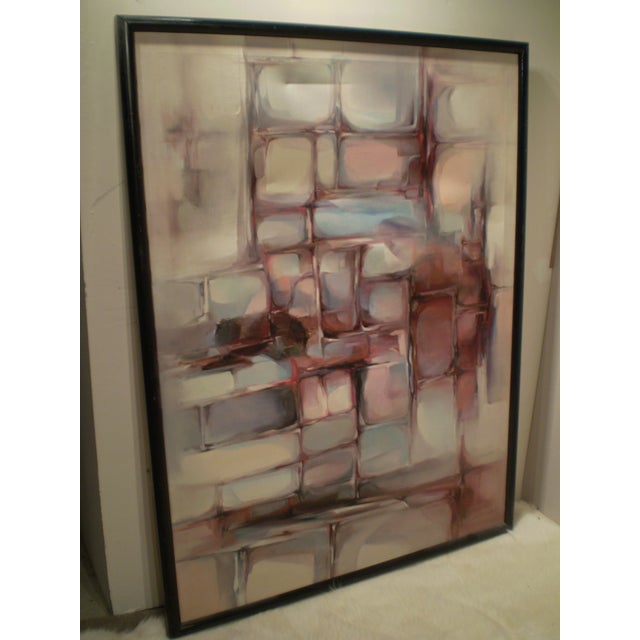 Large Modern Abstract Painting - Image 3 of 4
