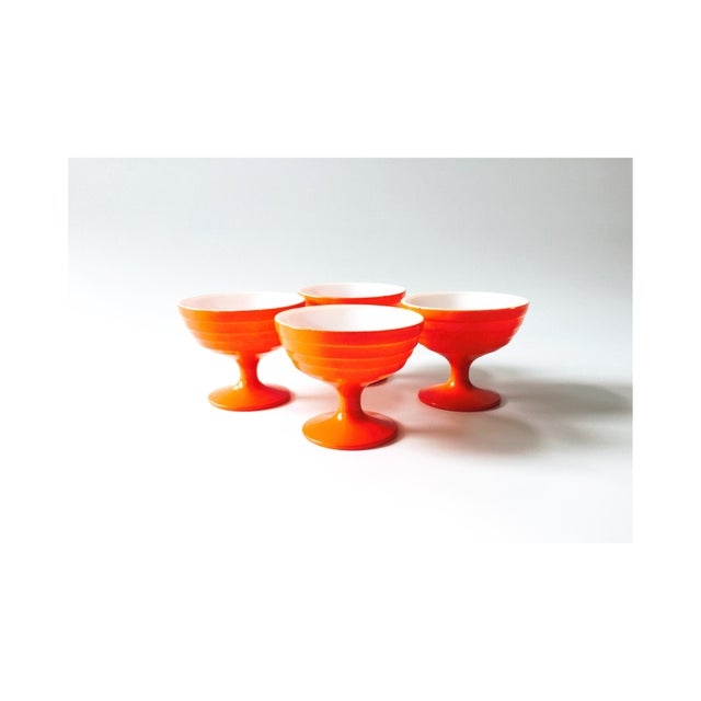 Vintage Orange Coupe Cocktail Glasses- Set of 4 - Image 2 of 5