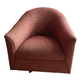 Custom Upholstered Contemporary Swivel Chair