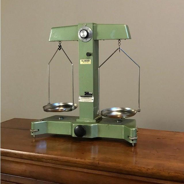 Antique Commercial Balance Scale by H. L. Becker in Brussels For Sale - Image 10 of 10