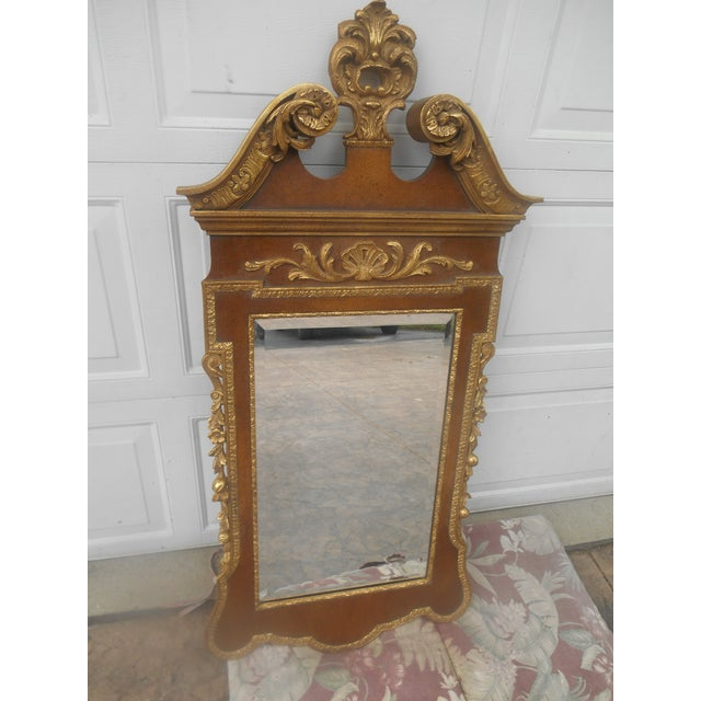 Friedman Brothers Friedman Brothers Mahogany & Gold Georgian Mirror For Sale - Image 4 of 8
