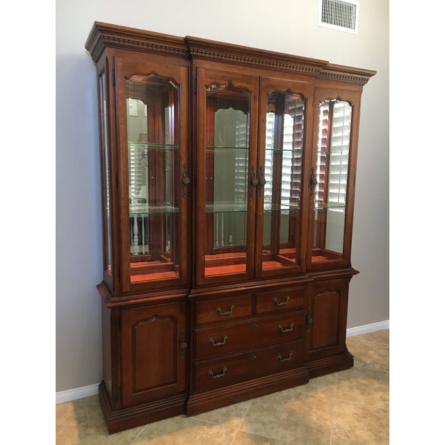 1990s Thomasville Dining Room Hutch For Sale - Image 5 of 5