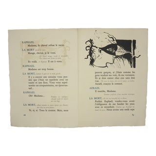 """Pages 68/69"", Original Lithograph From the Illustrated Play, ""Orphee"", by Jean Cocteau, Circa 1944 For Sale"