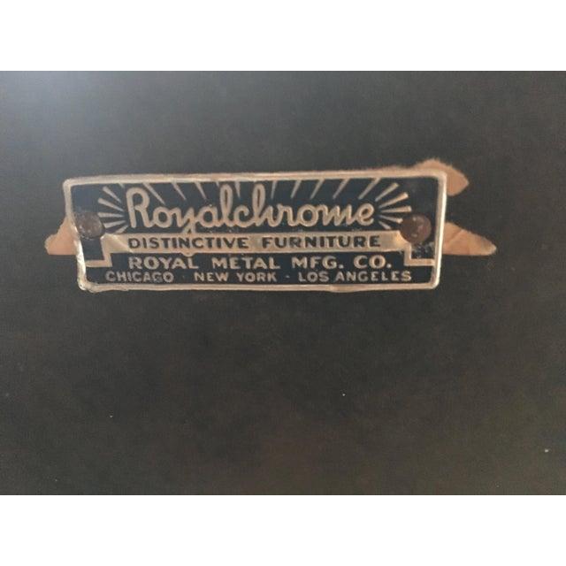 RoyalChrome Furniture Art Deco Dinette 3-Piece Set For Sale - Image 5 of 11