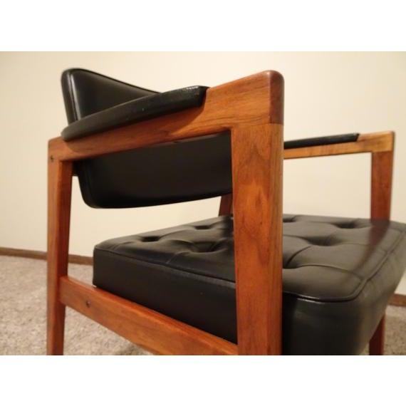 Black Mid Century Danish Modern Svegards Markaryd Arm Chair For Sale - Image 8 of 11
