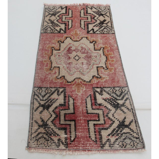 This is a beautiful pastel color old handmade Turkish carpet, it is coming from Konya city. The age of this sweet carpet...