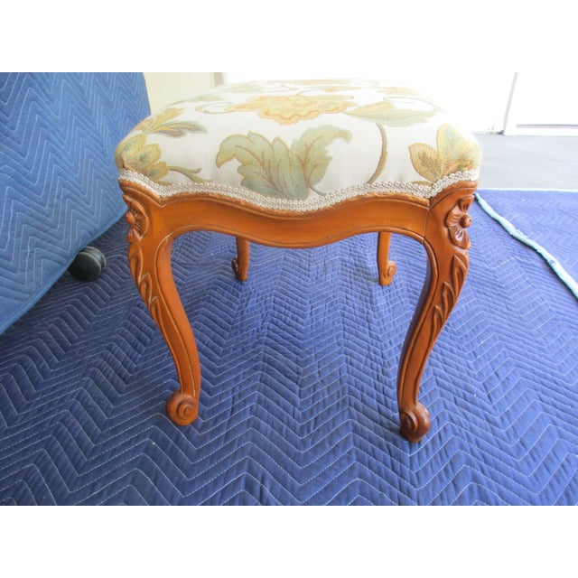 Boho Chic French Provincial Footstool For Sale - Image 3 of 12