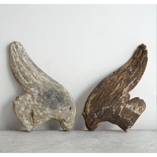 Circe 1760 French Wood Hand Carved Angel Wings. Price for pair.