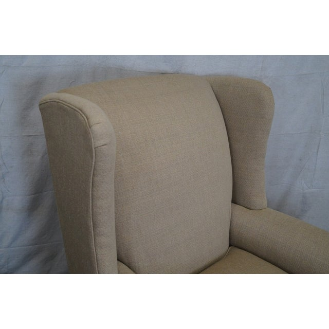 Lexington Tan Upholstered Lounge Chair For Sale - Image 5 of 10