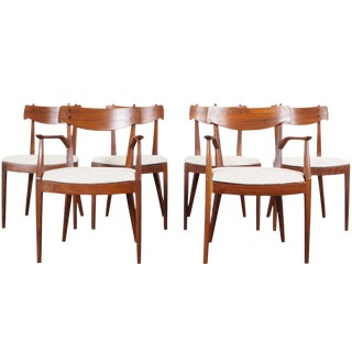 Vintage Walnut Dining Chairs by Kipp Stewart For Sale