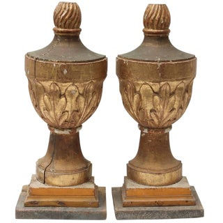 19th Century Gilt Finials For Sale