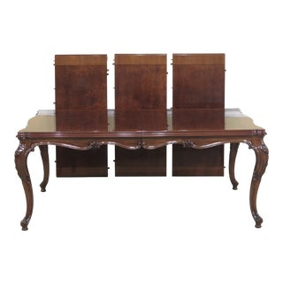 1990s French Karges Walnut Dining Room Table For Sale