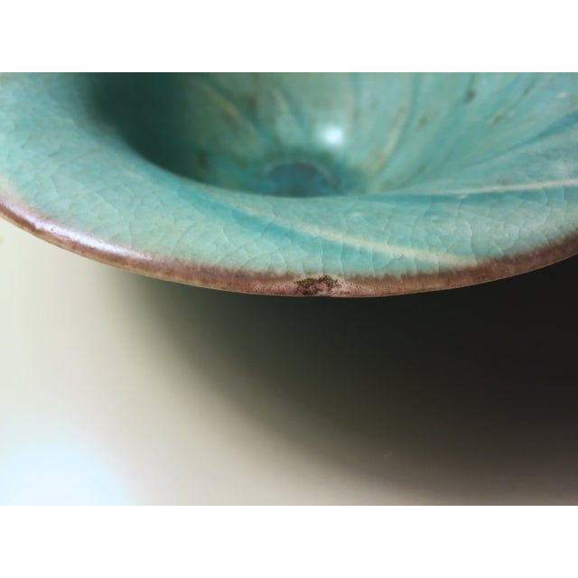 Vintage Aqua Hand-Made Art Pottery Bowl - Image 6 of 7