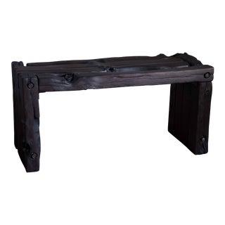 Organic Modern Wabi-Sabi Bench Reclaimed Yakisugi Wood For Sale