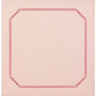 Snail Pink Bevel Minimalist 16 X 16 Art Print For Sale