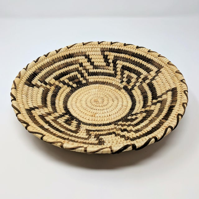 20th Century Native American Tohono O'odham Woven Basket For Sale - Image 9 of 9