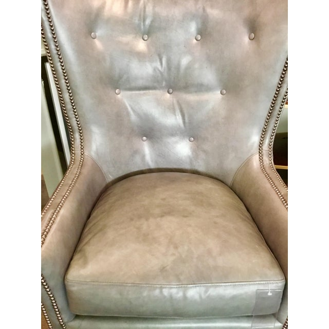 Herndon Aron Wingback Leather Chair - Image 5 of 8