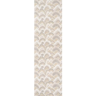 """Madcap Cottage Embrace Cloud Club Taupe Area Rug 2'3"""" X 8' Runner For Sale"""