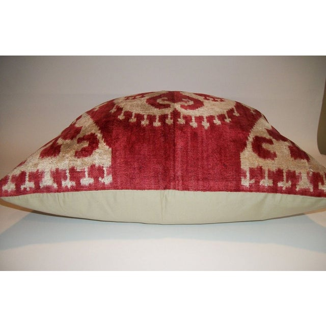 Custom made Silk Velvet Ikat Pillow - Image 3 of 3
