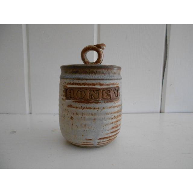 Rustic Pottery Honey Pot - Image 2 of 8