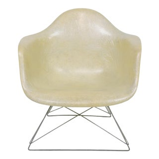 1950s Charles and Ray Eames Early Lar Shell Rope Chair With Cat's Cradle Base For Sale
