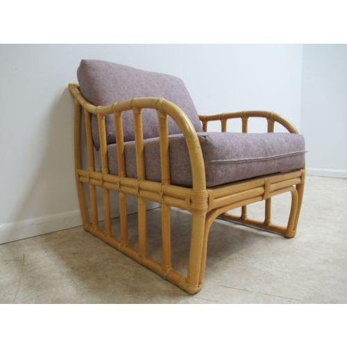 Vintage Ficks Reed Bamboo Rattan Living Room Lounge Chair For Sale - Image 11 of 11