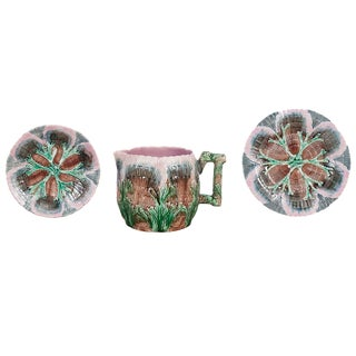 Etruscan Shell and Seaweed Majolica Set, Late 19th Century For Sale