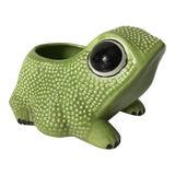 Image of Vintage Portuguese Hobnail Frog Planter