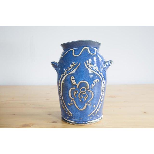 2010s Kate Lewis Flowers Divine Original Pottery Vase For Sale - Image 5 of 7
