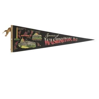 Vintage Souvenir of Washington, d.c. Felt Flag Pennant For Sale