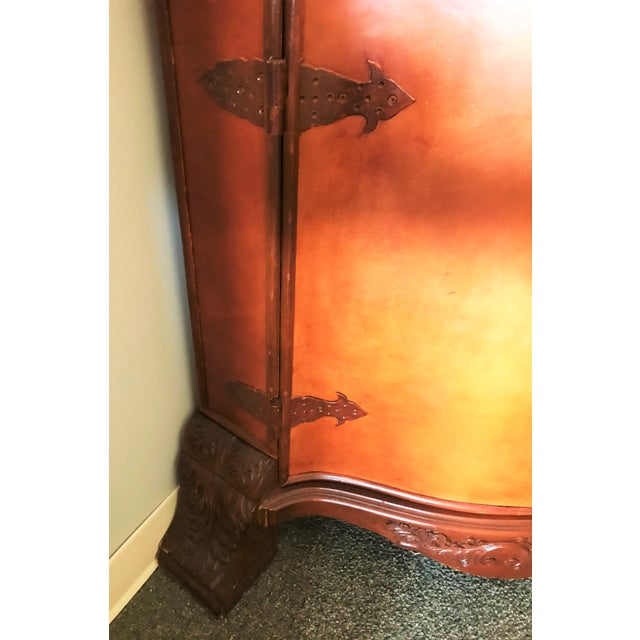 Late 20th Century Late 20th Century Corner Cabinet With Iron Doors For Sale - Image 5 of 13