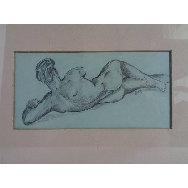 1940s Male Nude Study - Image 3 of 5