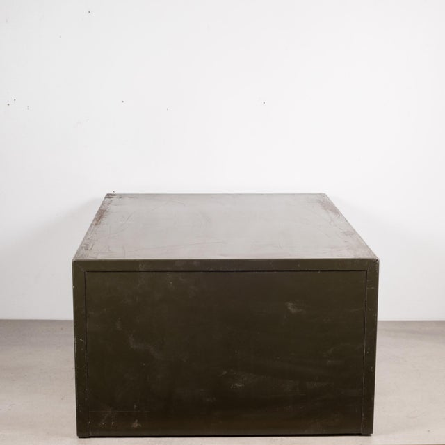 Mid 20th Century Industrial Army Green Factory Cabinet C.1940 For Sale - Image 5 of 10