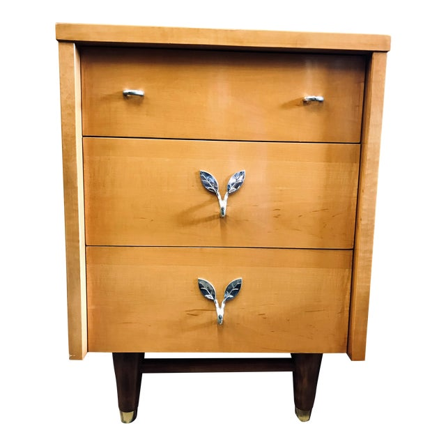 Mid-Century Modern Huntley Blonde Nightstand For Sale