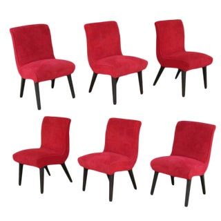 Set of Six Scoop Chairs by Jens Risom