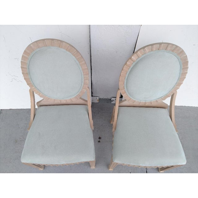 John Hutton Vintage, Fluted Wood, Oval Backed Side Chairs - a Pair For Sale In Miami - Image 6 of 9