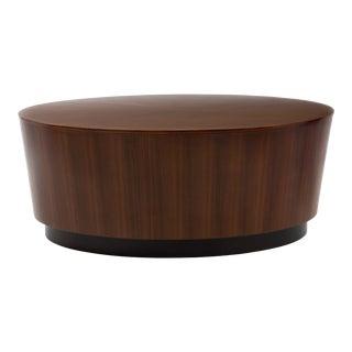 Oval Drum Barrel Tapered Floating Coffee Table Milo Baughman Harvey Probber Paul Mayen For Sale